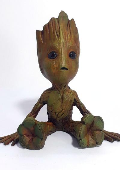 Baby Groot Boneco De Resina
