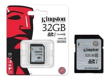 Cartão De Memória Kingston Sdhc Classe 10 32gb Uhs-i