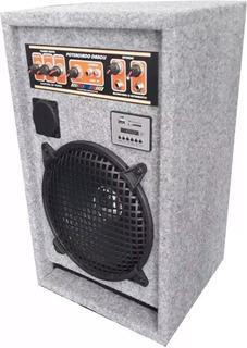 Parlante Potenciado Nacional 2 Mic Pc Mp3 Usb Y Micrófono