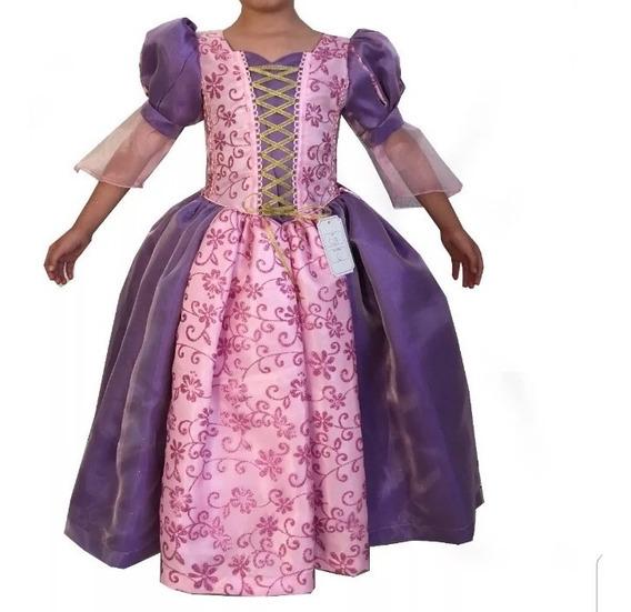 Vestido O Disfraz De La Princesa Rapunzel.