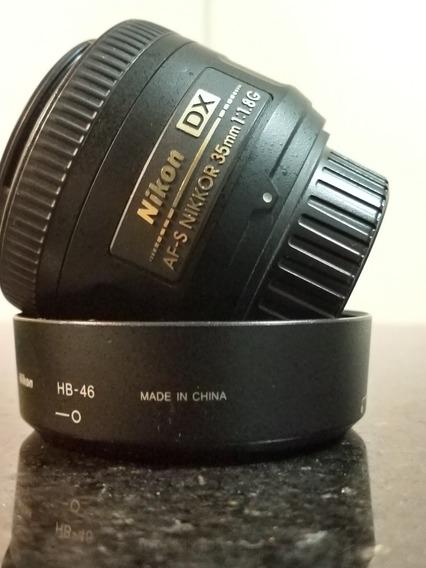 Lente Nikon Af-s Nikkor Dx 35mm F/1.8g Autofoco