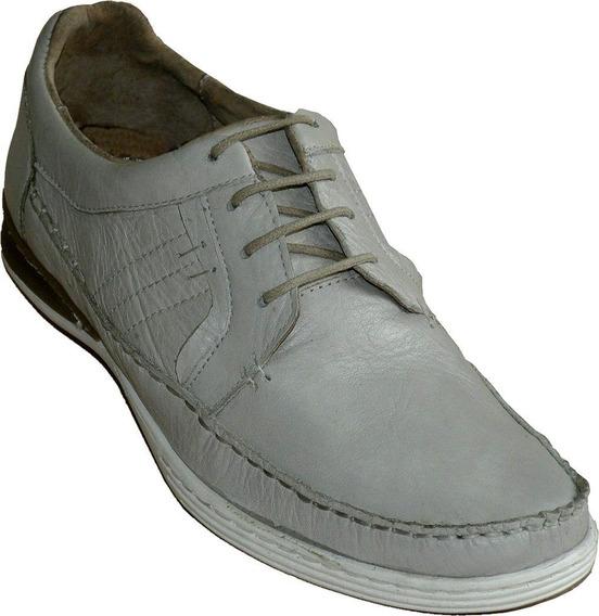 Lote De Zapatos Náuticos Hombre Cuero Blanco Hielo