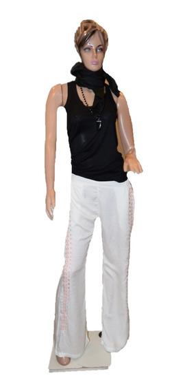 47 Street Pantalon De Fibrana Con Guarda Al Costado