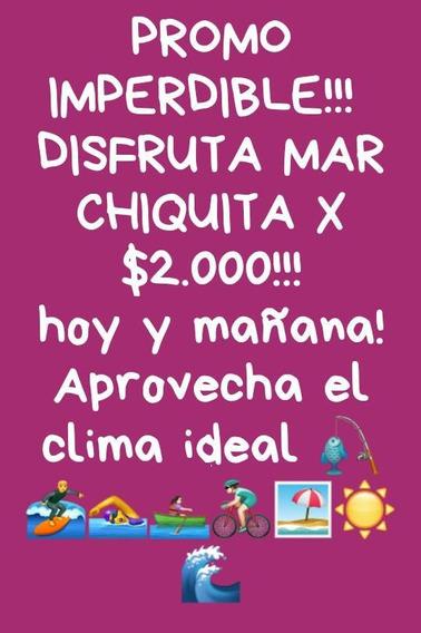 Alquiler De Casa En Mar Chiquita! Abierto Todo El Año!!