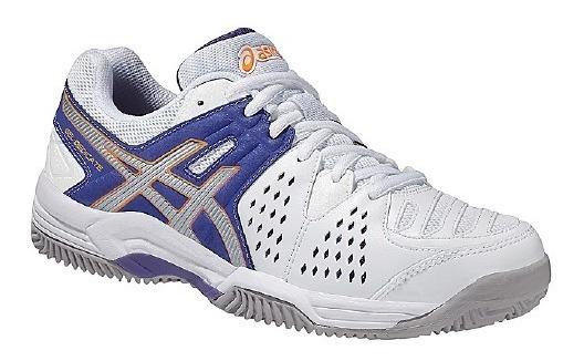 Tênis Asics Gel Dedicate 4 Clay - Branco/roxo/cinza
