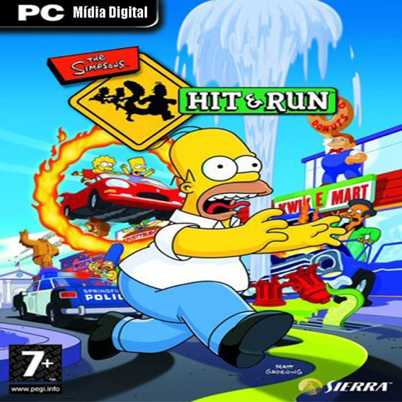 The Simpsons Hit E Run Para Pc Mídia Digital + Brinde
