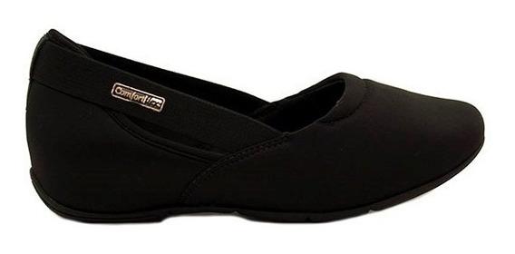 Zapatillas Mujer Lycra Negra Plantilla Confortflex