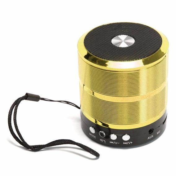 Mini Caixa De Som Portatil Speaker Ws-887