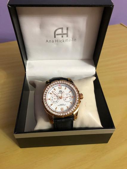 Relógio De Pulso Ana Hickmann Ah30219 Rose Couro Feminino