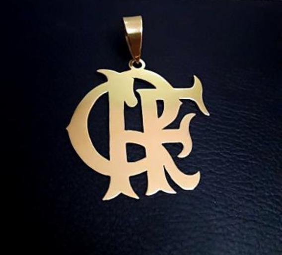 Pingente Flamengo De Ouro 18k Escudo Crf Vazado