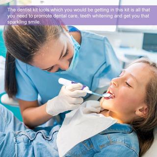 3pcs Led Iluminado Oral Cuidado Ferramenta Estojo Dental Den