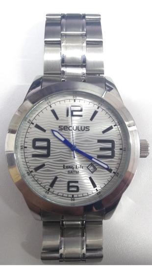 Relógio Seculus Marculino Prateado 28339g0sgna1 De Vltrine