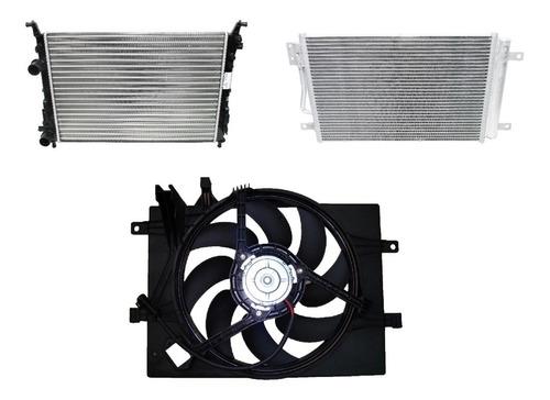 Kit Radiadores + Condensador + Electro Siena /palio/strada