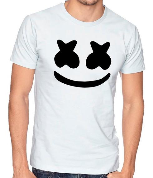 Playera Camiseta Hombre Niño Marshmallow Mascara Dj Fly #712