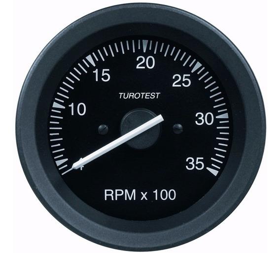 Tacômetro Contagiros 3500 Rpm 12/24 V Preto Universal 85mm