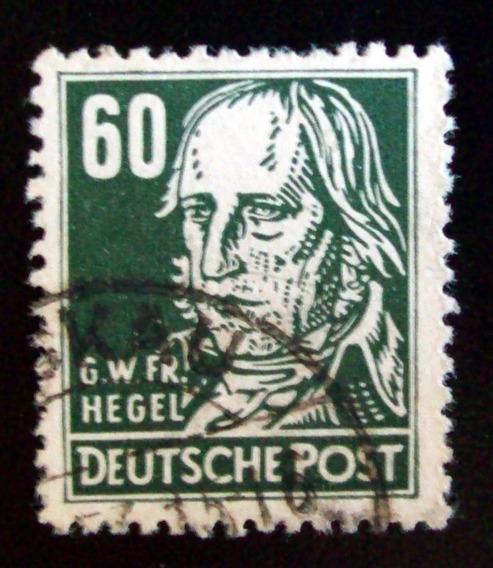 Alemania, Ddr - Sello Mi. 338 Georg Hegel 60pf Usado L4572