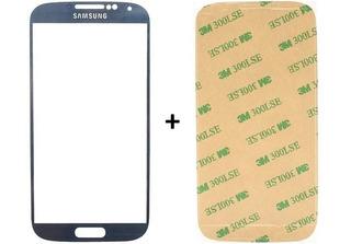 Vidro Tela Touch Azul Samsung Galaxy S4 + Adesivo Zerado