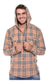 Camisa Masculina Flanelada Manga Longa Slim Ref-soc-a