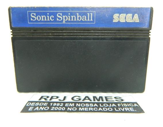 Sonic Spinball Original P/ Master System - Loja Centro Rj