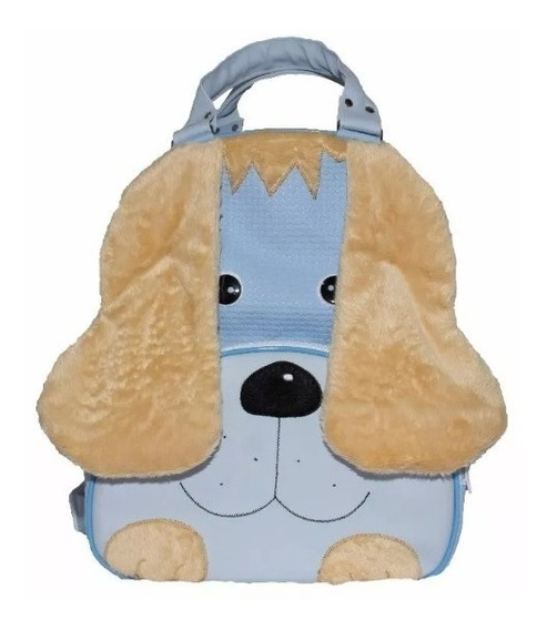 Mochila Infantil Cachorro Azul Bolsa Escolar Tamanho G