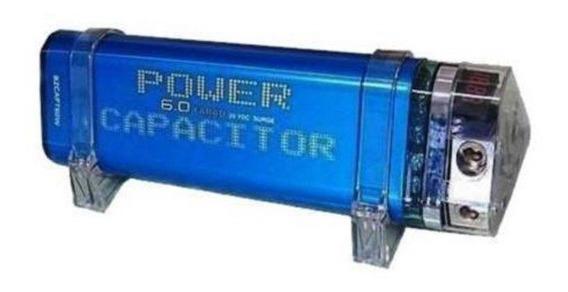 Mega Capacitor Blitz 6.0 Farad 6f Até 7000watt Rms Digital