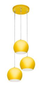 Pendente Bola Triplo Amarelo
