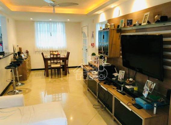 Casa Com 3 Dormitórios À Venda, 119 M² Por R$ 360.000,00 - Sape - Niterói/rj - Ca1046