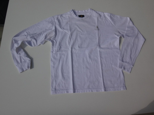 Remera Polo Club Manga Larga Hombre Blanca Talle L