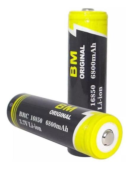 6 Bateria Litio B-max Original 3.7v 16850 6800 Mah Lanterna