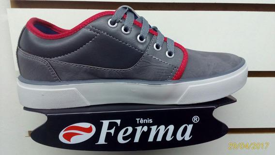 Tenis Ferma Skate Mod. A5956 Grafite