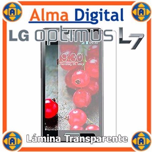 Lamina Protector Pantalla LG Optimus L7 Transparente