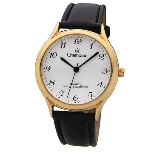 Relógio Pulso Champion Unisex. Ch22233m Dourado F.