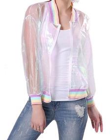 Jaqueta Holográfica Casaco Bomber Furtacor Transparente