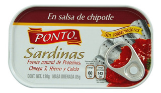 Sardinas Ponto En Salsa De Chipotle 120 Gr