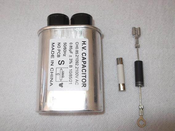 Manutenção Forno Microondas Capacitor + Diodo + Fusivel