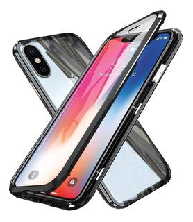 Funda Magnetica 360 iPhone 7 8 Plus Xr Xs Max Protector Iman