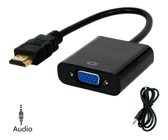 Cabo Adaptador Conversor Hdmi P/vga C/saída De Áudio Dex