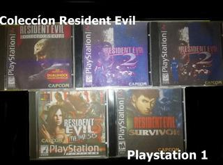 Coleccíon Resident Evil Para Playstation 1 Con Chip