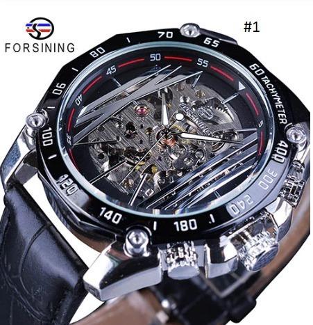 Relógio Forsining, Design De Luxo,engrenagem Criativa A Céu