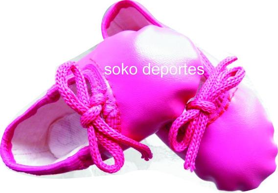 Zapatillas Metalizadas Colores Cuerina Danza Ballet Soko