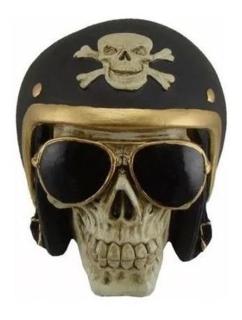 Crânio Caveira Esqueleto - Motociclista - Moto