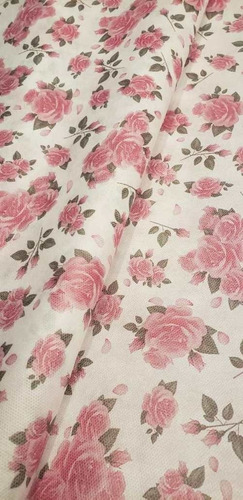 Tnt Estampado Floral Rosas Mesa Parede 1,40mx 2 Metros