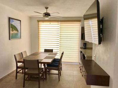 (crm-1399-288) Renta Vacacional, Cerca De Playa En Coto Con Alberca (casa Hector)