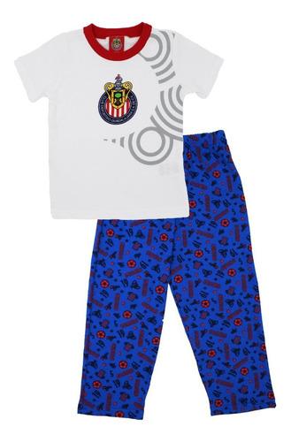 Pijama Chivas Futbol 2 Pzs Pants Playera Original Ropa Bebe