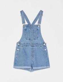 Overol Short Juvenil Denim Trendy Moda 2019