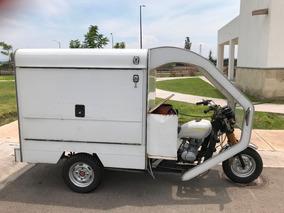 Motocarro Equipado Con Cocina Parrillas Listo Para Trabajar