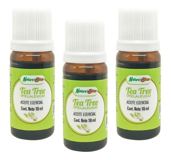 3 Frascos - Tea Tree Aceite Esencial 10 Ml. C/u 100% Puro