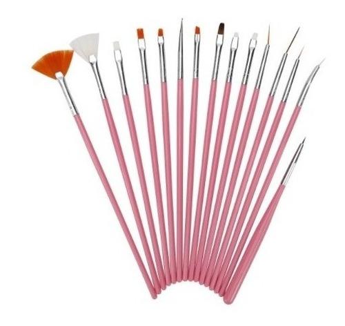 Kit De 15 Pinceles Para Uñas