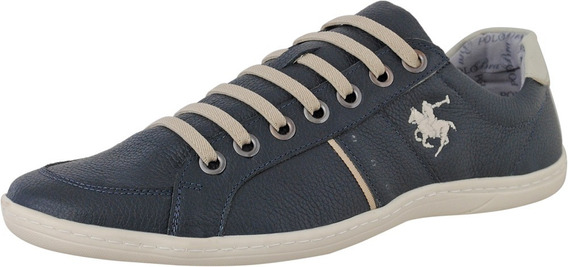 Sapatenis Casual Masculino Couro Floater 646 - Polo Brasil
