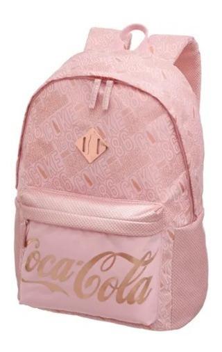 Mochila Coca-cola De Costas Blush Rosa Pacific Original